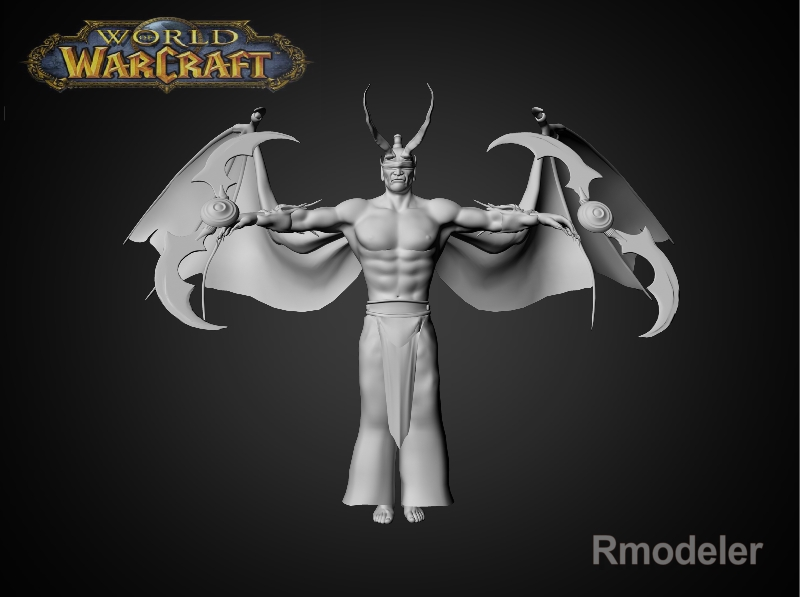 illidan demon hunter 3d model fbx dae ma mb obj 116411