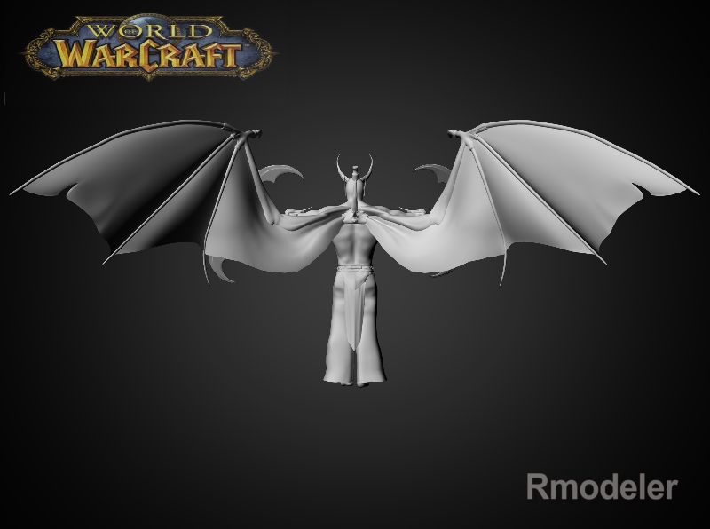 illidan demon hunter 3d model fbx dae ma mb obj 116415