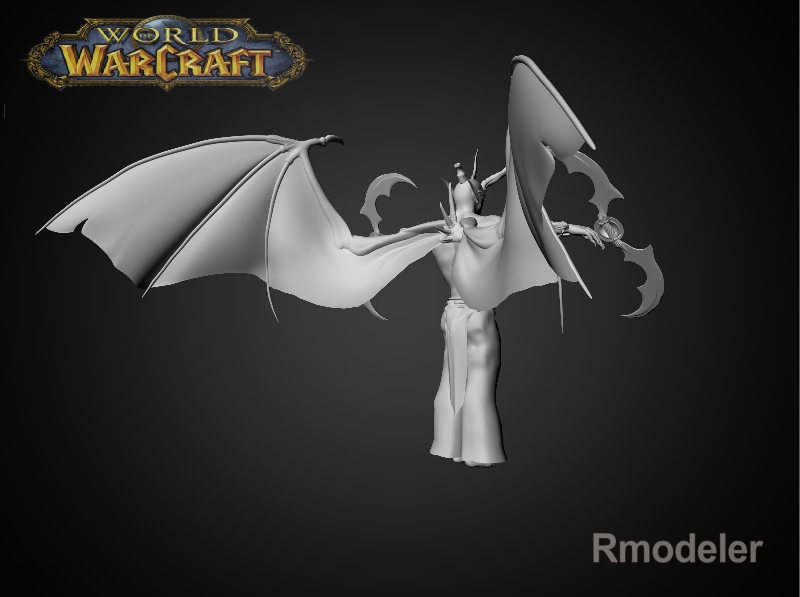 illidan demon hunter 3d model fbx dae ma mb obj 116416
