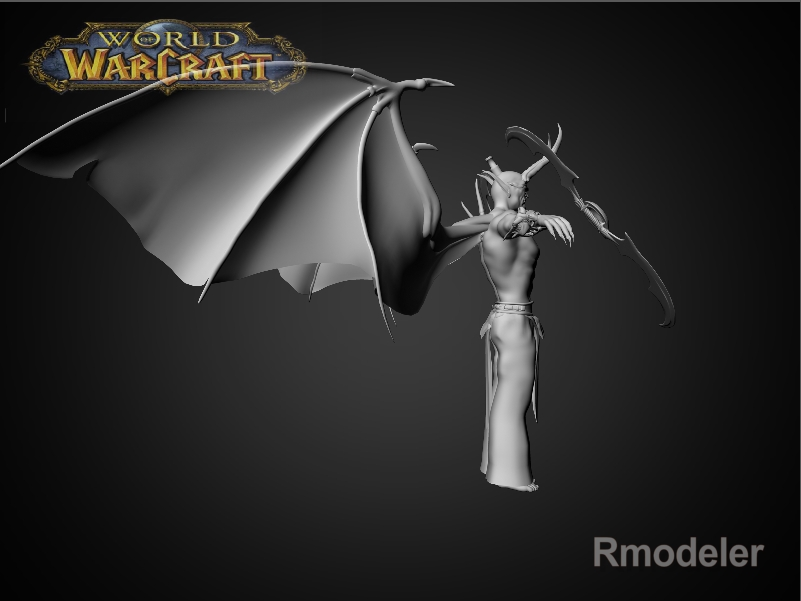 illidan demon hunter 3d model fbx dae ma mb obj 116417
