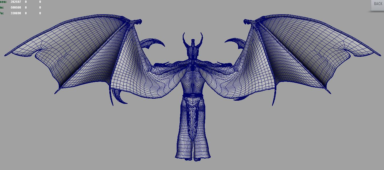 illidan demon hunter 3d model fbx dae ma mb obj 116419