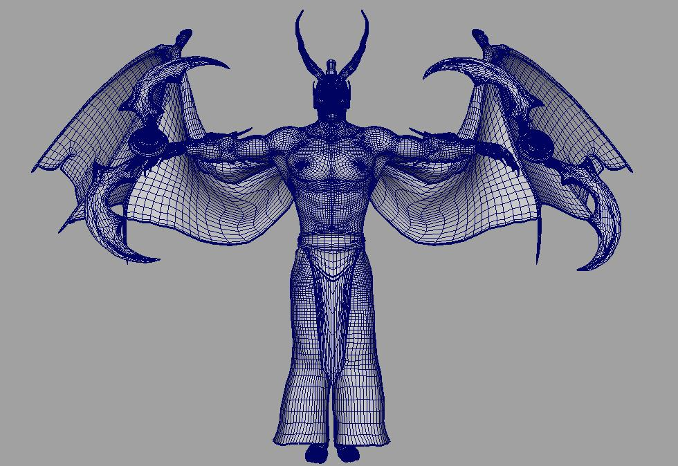 illidan demon hunter 3d model fbx dae ma mb obj 116420