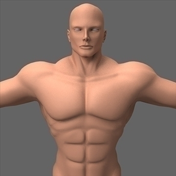 male superhero 3d model c4d lwo obj 89563