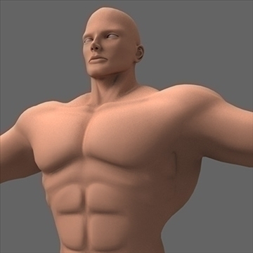 male superhero 3d model c4d lwo obj 89564