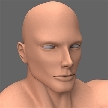 male superhero 3d model c4d lwo obj 89568