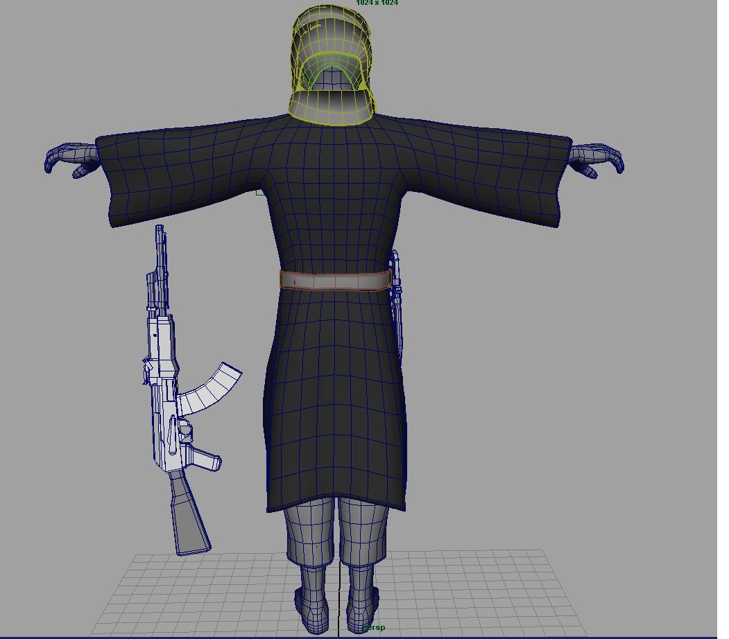 pakistani terrorist 3d model fbx dae ma mb obj 116380