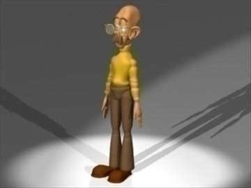 profesor 3d model 3ds dxf lwo 80820