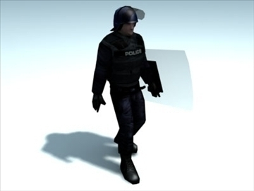 riot_police officer_3d model 3ds max fbx lwo ma mb hrc xsi 99501