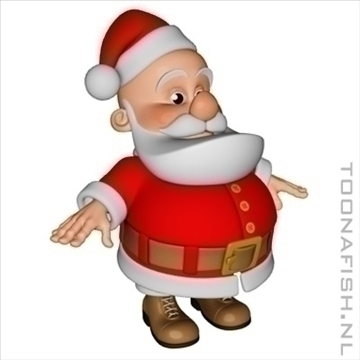 santa 3d model lwo other hrc xsi obj 100499