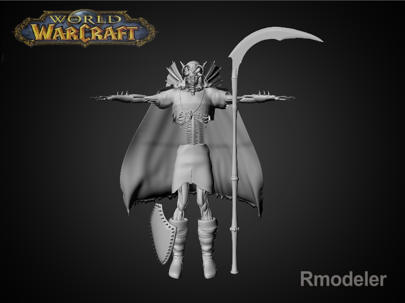 scourge skeleton king 3d model fbx dae ma mb obj 116576