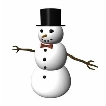 snow man 3d model dxf ma mb obj 84622