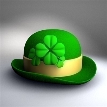 st. patricks day hat.zip 3d model 3ds dxf fbx c4d obj other 87579