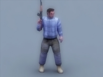 террорист 3d тоглоом 3d загвар 3ds max 99415