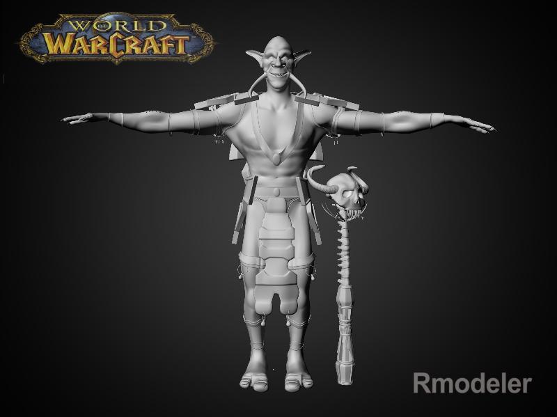 troll shaman iknra 3d líkan fbx daga með mb obj 116606