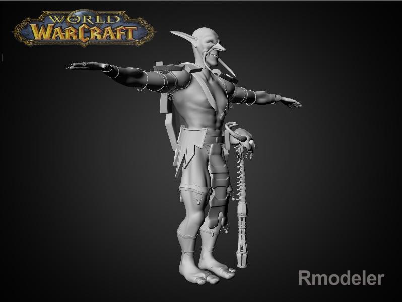 troll shaman iknra 3d líkan fbx daga með mb obj 116607