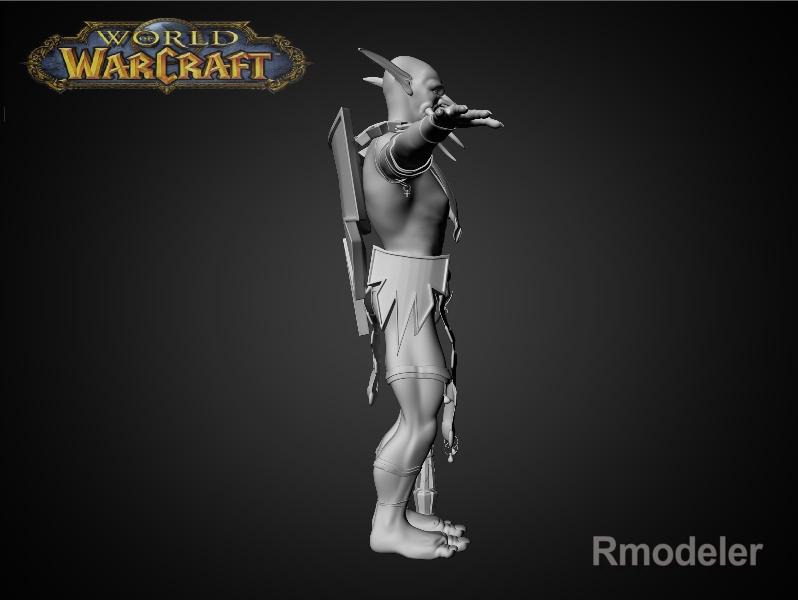 troll shaman iknra 3d líkan fbx daga með mb obj 116608