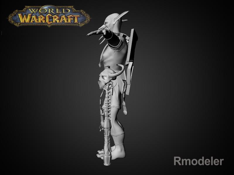 troll shaman iknra 3d líkan fbx daga með mb obj 116612