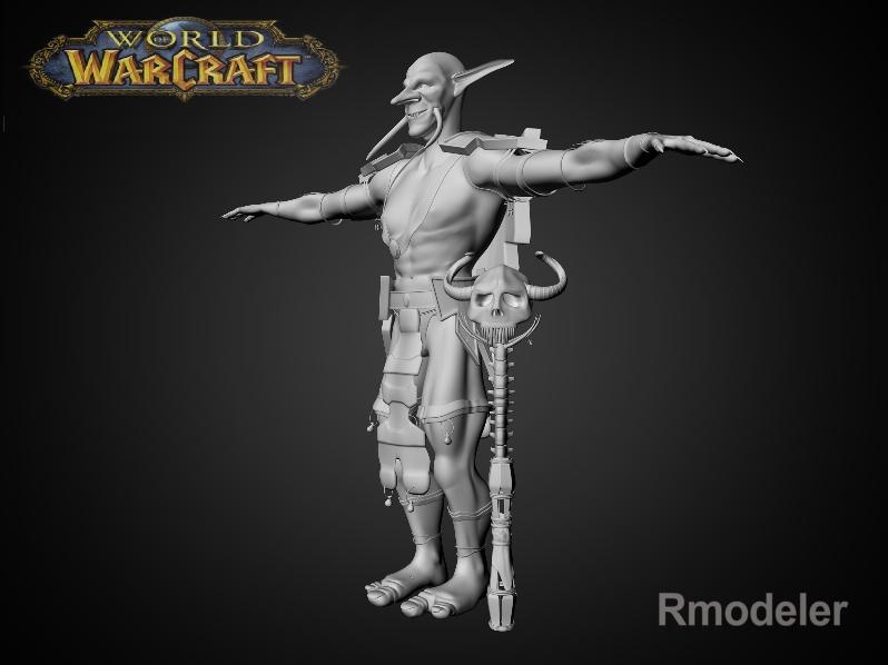 troll shaman iknra 3d líkan fbx daga með mb obj 116613