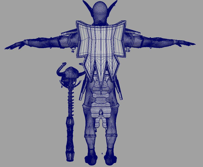 troll shaman iknra 3d líkan fbx daga með mb obj 116615