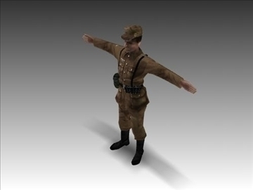 ww2 german africa corps soldier. 3d model 3ds max x lwo ma mb obj 104031