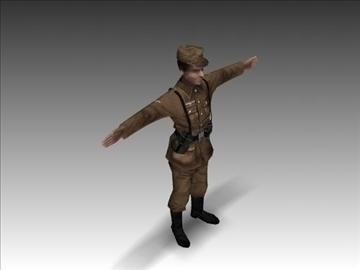 ww2 german africa corps soldier. 3d model 3ds max x lwo ma mb obj 104032