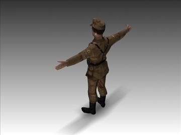 ww2 german africa corps soldier. 3d model 3ds max x lwo ma mb obj 104034