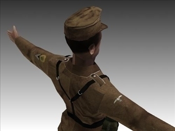 ww2 german africa corps soldier. 3d model 3ds max x lwo ma mb obj 104036