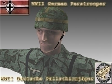 ww2 german paratrooper model 3d 3ds max x lwo ma mb obj 103837