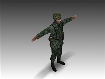 ww2 german paratrooper 3d model 3ds max x lwo ma mb obj 103839