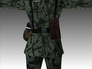 ww2 german paratrooper 3d model 3ds max x lwo ma mb obj 103843
