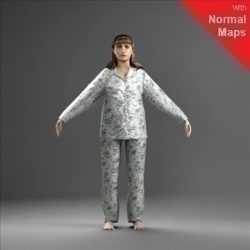 WWom0008-CSRigged for 3D Max Character Studio ( 58.5KB jpg by axyz-design )