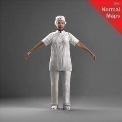 WWom0009-CSRigged for 3D Max Character Studio ( 53.34KB jpg by axyz-design )