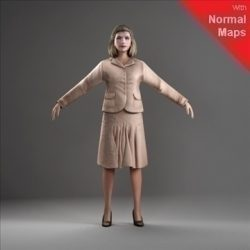 WWom0010-CSRigged for 3D Max Character Studio ( 59.58KB jpg by axyz-design )
