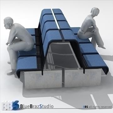 airport seat 3d model 3ds dxf c4d obj 105613