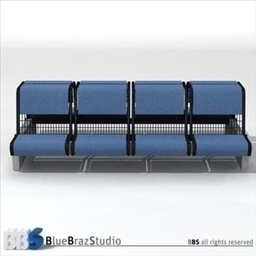 airport seat 3d model 3ds dxf c4d obj 105614