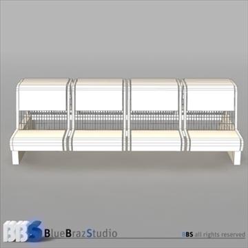 airport seat 3d model 3ds dxf c4d obj 105615