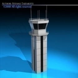 Airport control tower ( 54.56KB jpg by tartino )