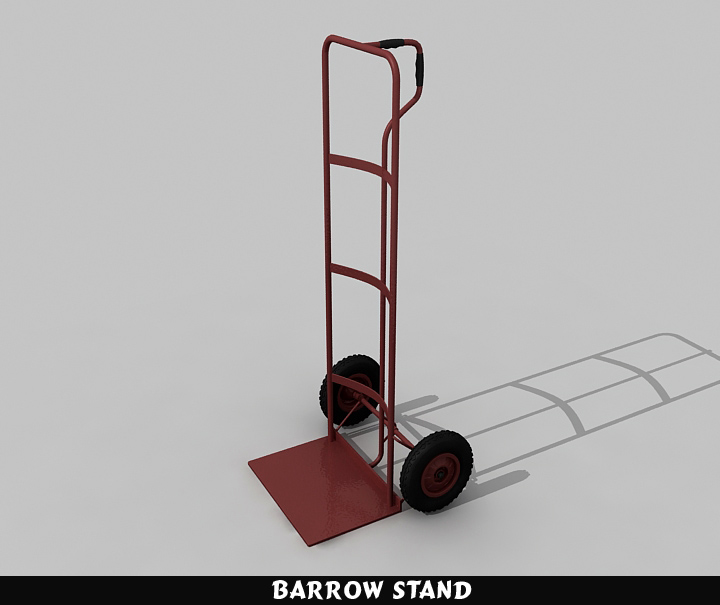 barrow stand 3d model 3ds max fbx obj 116783