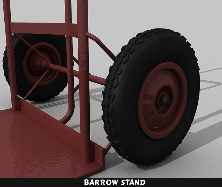 barrow stand 3d model 3ds max fbx obj 116785