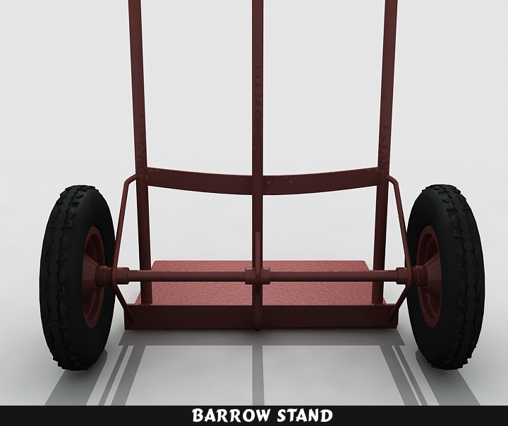 barrow stand 3d model 3ds max fbx obj 116786