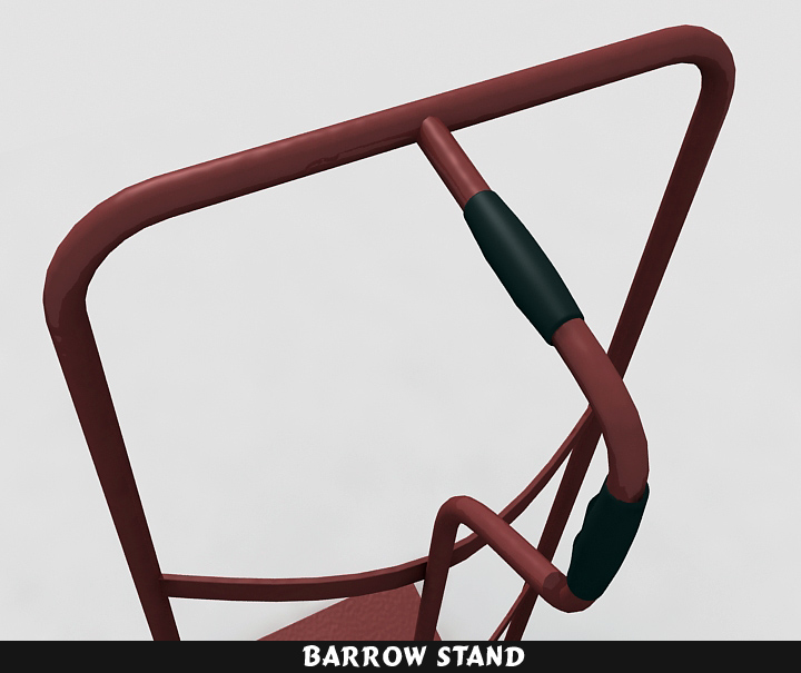 barrow stand 3d model 3ds max fbx obj 116787