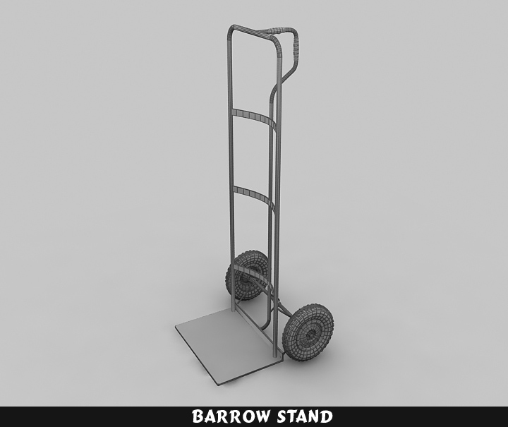 barrow stand 3d model 3ds max fbx obj 116788