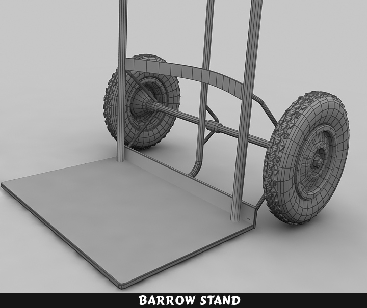 barrow stand 3d model 3ds max fbx obj 116789