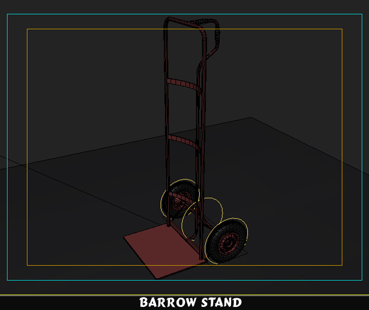 barrow stand 3d model 3ds max fbx obj 116790