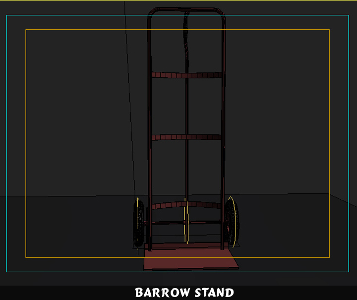 barrow stand 3d model 3ds max fbx obj 116791