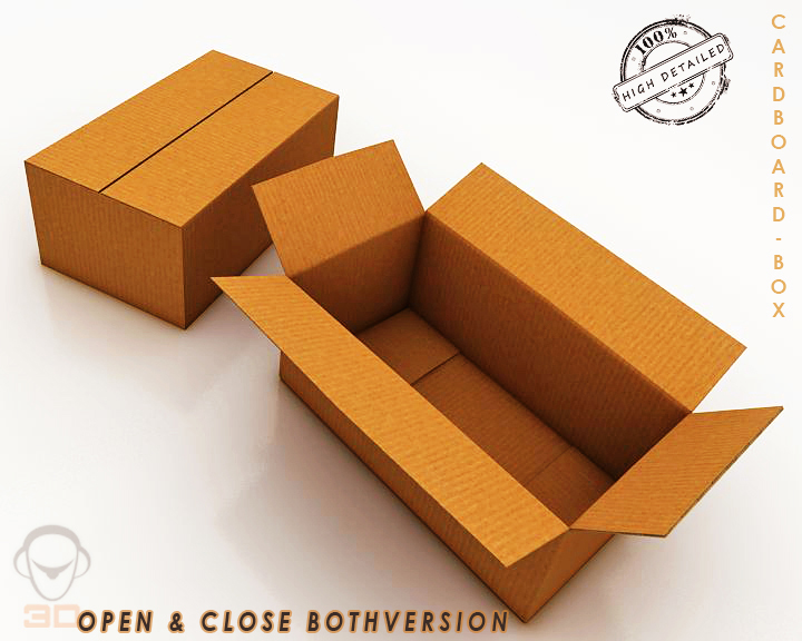 cardboard box 3d model 3ds max fbx obj 117893