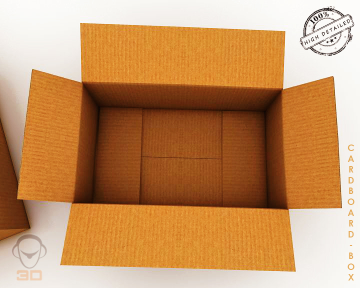 cardboard box 3d model 3ds max fbx obj 117895