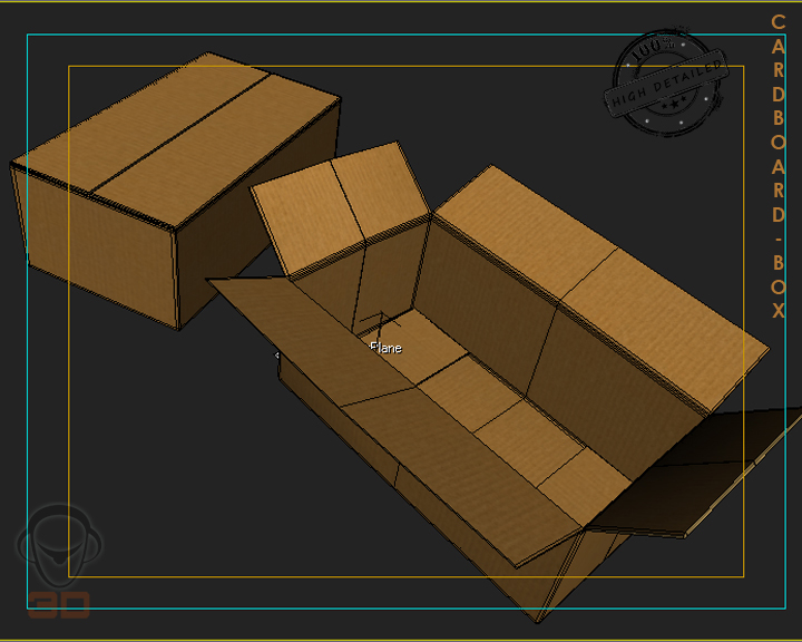 cardboard box 3d model 3ds max fbx obj 117898