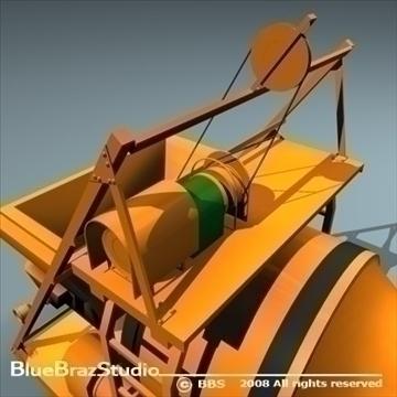 कंक्रीट मिक्सर 3d मॉडल 3ds dxf c4d obj 89610