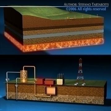 geotermic plant cutaway 3d model 3ds dxf c4d obj 79039